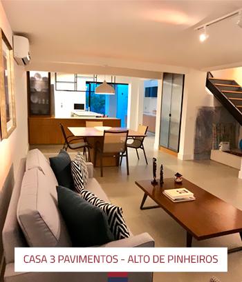 Ampliação e reforma casa 3 pavimentos em Alto de Pinheiros