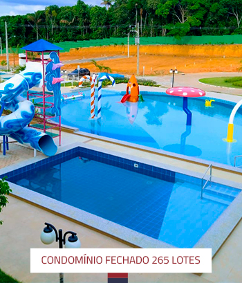 Construção de Condomínio fechado com 265 Lotes Parque Aquático